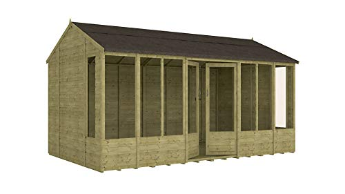 Project Timber 14ft x 8ft Pressure Treated Hobbyist Summerhouse (14 x 8)