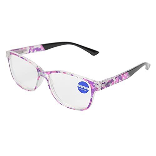 Gafas de seguridad que se adaptan a la forma de la cara Sensaciones suaves Filtro de luz azul de gran tamaño Gafas de luz azul con patas curvas antideslizantes para evitar la fatiga ocular(+250, 11#)