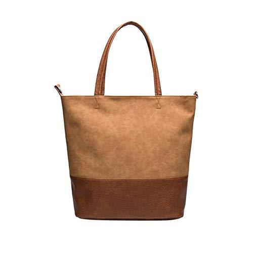 Kyoidy Women High Capacity Umhängetasche Tote Weiche Lederhandtasche, Braun