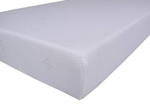 8' Deep Kingsize Memory Foam Mattress by eXtreme Comfort in Plain White Zipped Cover and Full 2' Memory Foam Layer - No Springs (5ft Kingsize Mattress)