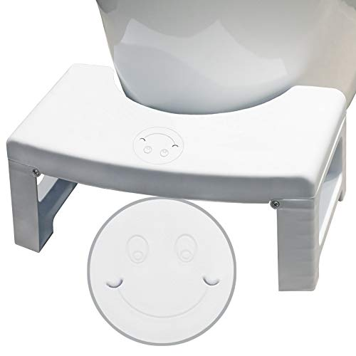 Toilet Stool, Toilet Step Stool, Foldable Poop Stool with Fragrance Position, Bathroom Squat Potty Stool, Toilet Step Stool for Adults and Kids, Splicable Poop Stool, 6.7'' Height Squat Aid Stool