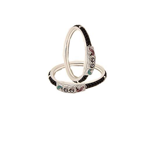 Sahiba Gems Exclusive Silver Baby Bracelet Kada Bangle Nazariya for Babies ~ Fit for 1-1.5 Years Babies