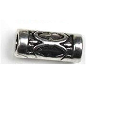 EKimmer 10Pcs/Lot Antique Silver Big Hole Tube Spacer Beads For Jewelry Making Fits Beads Charms Bracelet Jewelry G31