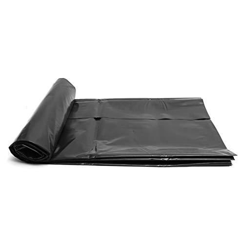 Teichfolien Zuschnitt Premium PVC Teichfolie Schwarz Stärke 0,2 mm Schwimmteich Folie Gartenteich Teichplane, für Teichbau, Garten- und Teichzubehör, mit Reparaturband(Color:0.2mm,Size:3x33ft/1x10m)
