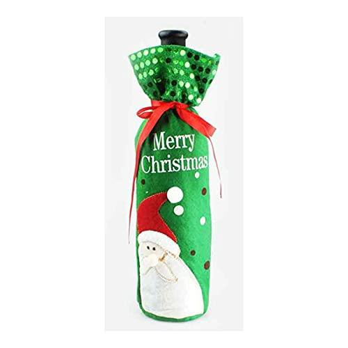 Coperture di bottiglia di vino di natale, sacchetto di regalo della borsa del vino non tessuta del paillettes, sacchetto del regalo del pupazzo di neve di Natale del Babbo Natale, adatto per la festa