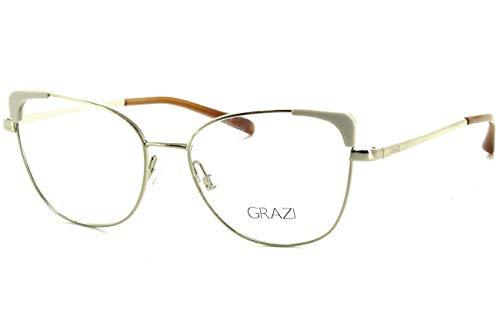 Óculos de Grau Grazi Massafera GZ1013 F921 Ouro Lente Tam 52