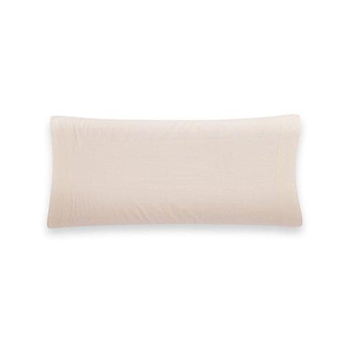 Sancarlos - Funda de almohada para cama, 100% Algodón percal, Color crema, Cama de 150 cm