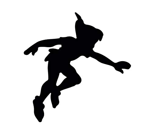 Peter Pan Wall Decal - Shadow - Disney Vinyl Sticker Silhouette for Kid's Playroom, Bedroom Decoration or Nursery Decor