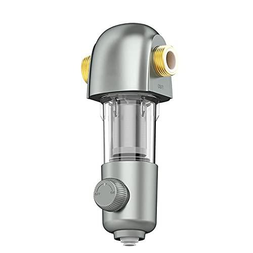 Agua destilada Sistema de Filtro de Agua de Toda la casa 400 0L / H Rendimiento de Agua Grande 3/4'con Lavado a contracorriente de 40 μm de filtración precisión Color Gris Filtro de Agua para el freg