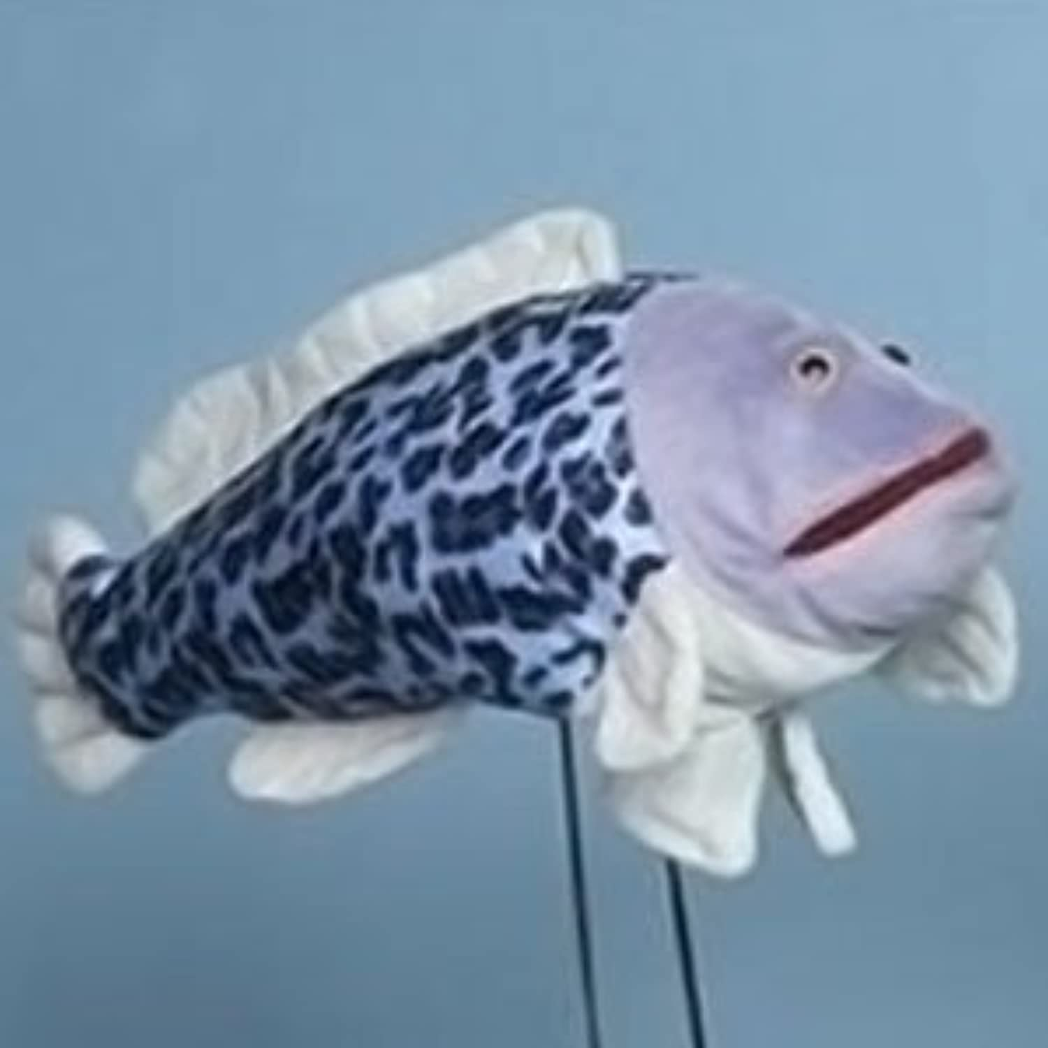 Sunny Toys 16  Tropical Fish HalfSpotted Hankfish Hand Puppet