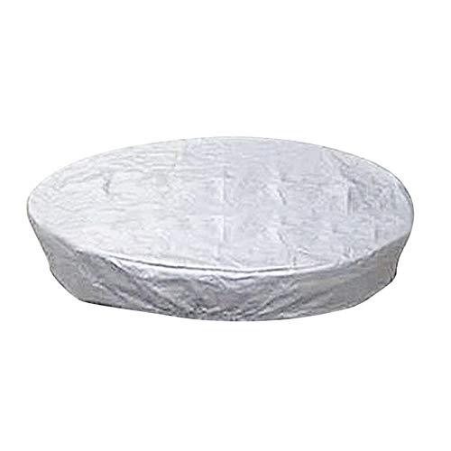 daiyanjing Cubierta redonda para jacuzzi de piscina, protección contra el polvo con dobladillo elástico para un ajuste seguro, resistente a los rayos UV y al clima, protección contra el polvo