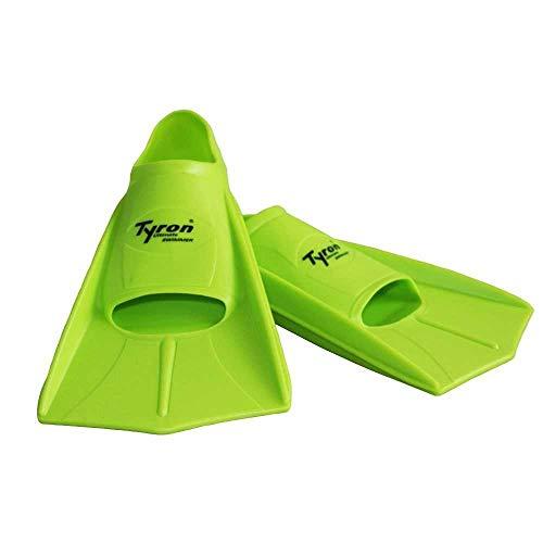 Tyron Powerfins | Schwimmflosse für Kinder & Erwachsene | Kurzflossen | Kurze Flosse | 100% Silikon Flosse für das Schwimmtraining