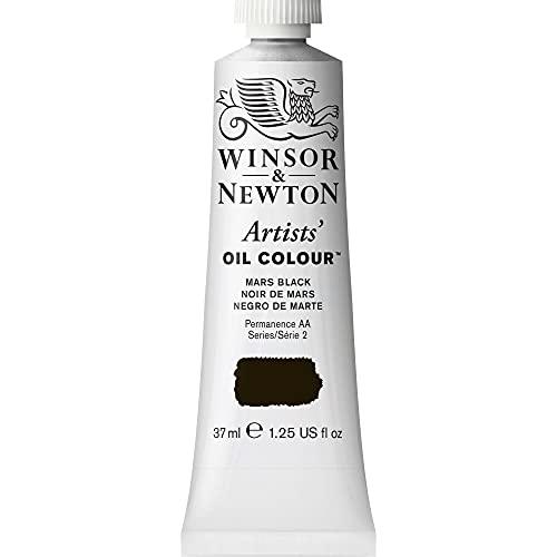 Winsor & Newton 1214386 Artists' Oil Color Paint, 37-ml Tube, Mars Black