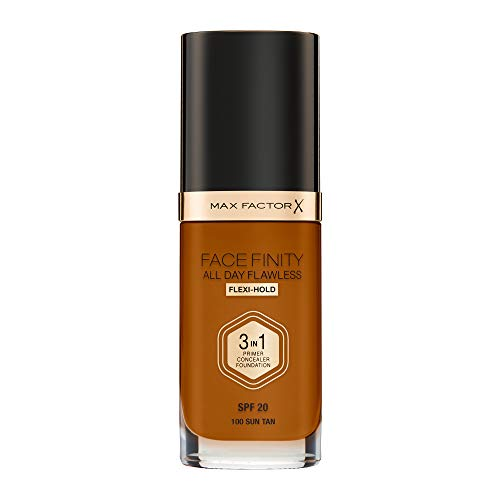 Max Factor Face Finity All Day Flawless 3 in 1 Foundation 30ml - 100 Sun Tan,
