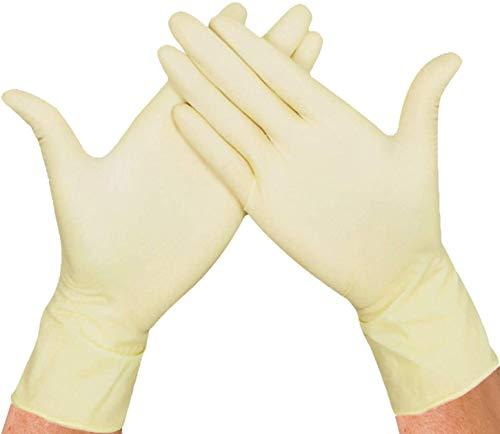 Herrmann Latex-Handschuhe Premium Größe XL | Weiß 100 Stück | Einweghandschuhe in praktischer Spenderbox | Ideal für Hygienebereiche - wie Lebensmittelbranche, Kosmetik UVM.