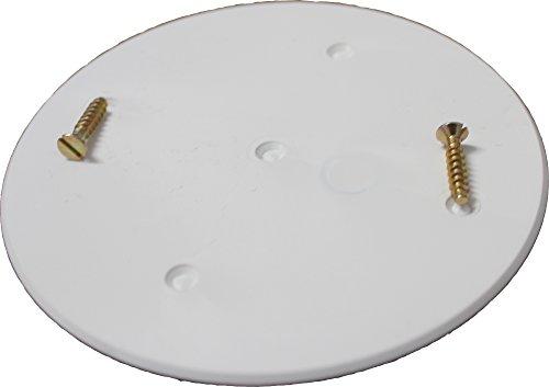 10 Stück F-tronic Schraubdeckel rund weiß 91mm Durchmesser für Abzweigdose/Verteiler