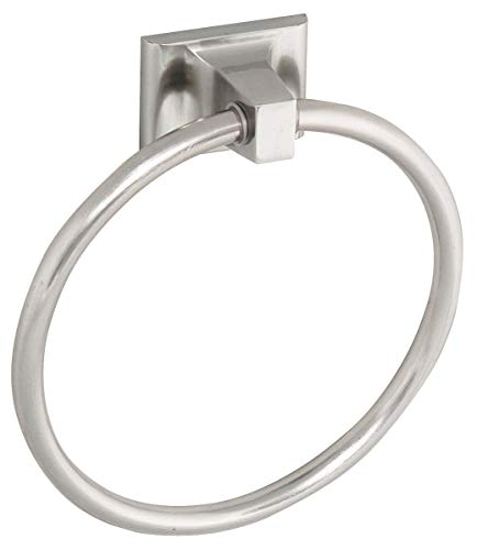 Design House 539163 Millbridge Wall-Mounted Towel Ring for Bathroom, One Size, Satin Nickel