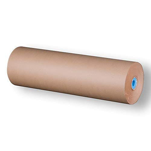 Packpapierrolle | Maße 50 bis 100 cm x 250 m | 1 Rolle Packpapier | Geschenkpapier, Kraftpapier, Recyclingpapier, Schrenzpapier, Verpackungspapier Knüllpapier | Movepack® (1x250)