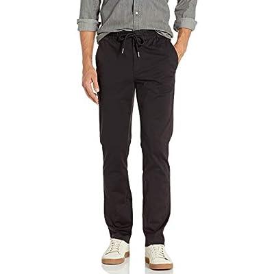 Men's Slim-Fit Washed Chino Drawstring Pant