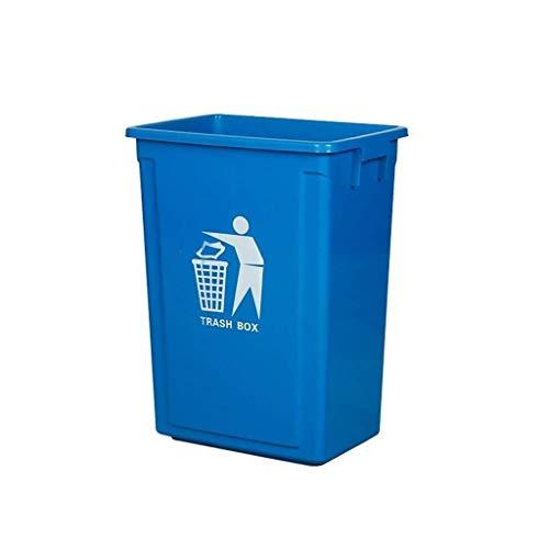 NJIUHB vuilnisbak voor buiten, rechthoekig, kunststof, vuilnisbak voor binnen, 30 l, 40 l, 60 l, 100 l