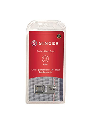 SINGER | Narrow Rolled Hem Foot for Low-Shank Sewing Machines, 1/8 Inch Hem, Light to Medium Weight...