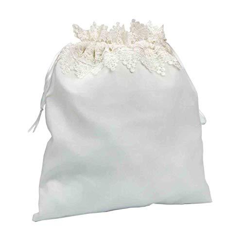 Elegante Bolsa Limosnera Artesanal Decorativa para Novia Color Blanco. Bolsos y Complementos. Regalos Originales. Detalles de Bodas, Comuniones, Bautizos. CC