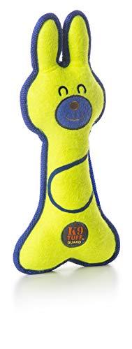 Petstages Lil' Racquets - Hundespielzeug - Hase - mit Füllung & Quietscher - Gelb - Einheitsgröße