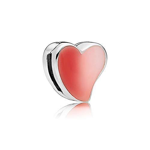 Auténtica Pandora 925 Cuentas De Plata Esterlina Diy Reflexions Corazón Asimétrico De Amor Clip Charm Fit Moda Mujer Pulsera Brazalete Joyería