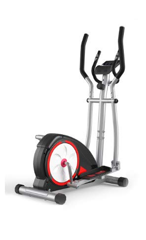 AJH Inicio Bicicleta elíptica, máquinas elípticas, 8 Nivel de Resistencia Magnética, Cardio Entrenamiento, 6KG de Dos vías del Volante, Pantalla de la Consola con la Tableta Titular.