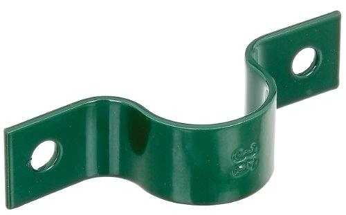 GAH-Alberts 655518 Rohrschelle, grün kunststoffbeschichtet, für Posten Ø38 mm / 10 Stück