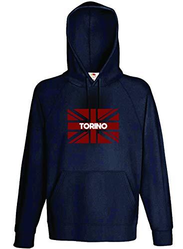 Tipolitografia Ghisleri Felpa con Bandiera Torino Tifosi Calcio Taglia M (su Richiesta Taglie S M L XL XXL – Inviare Un Messaggio Dopo l'ordine – Vedi Tabella)