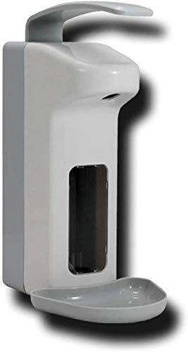 Renquen Armhebelspender mit Abtropfschale Kunststoff Desinfektionsspender Desinfektionsmittel Wandspender 500ml