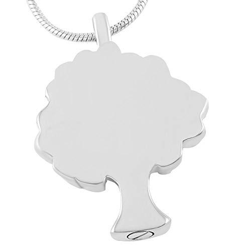 OPPJB Collar De Cenizascollar con Colgante De Cremación De Árbol De La Vida De Acero Inoxidable para Cenizas, Recuerdo De Cenizas, Joyería Conmemorativa