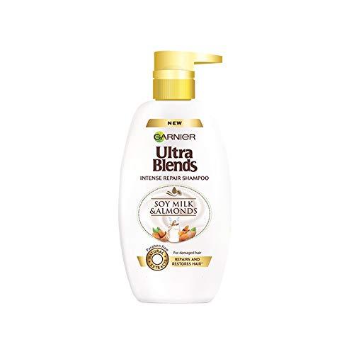Garnier Ultra Blends Shampoo, Soy Milk & Almonds, 640ml
