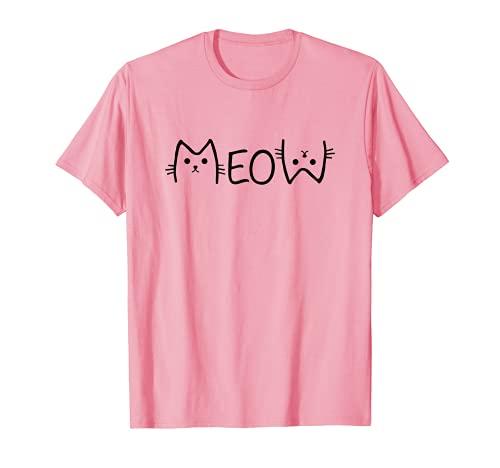 Meow - Amante de gatos, gato, mamá, gato, mamá, mamá, para adolescentes y mujeres Camiseta