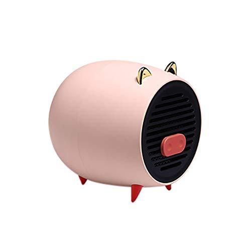 Gpure Vertical Calefactor Cerámico Aire Caliente 500W Bajo Consumo Mini Cerdo Eléctrico...