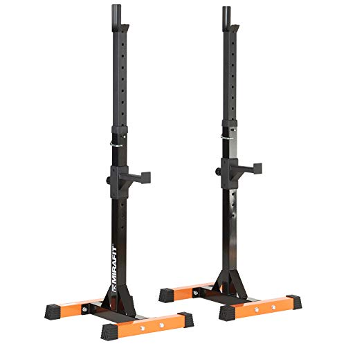 Mirafit Adjustable Squat Stands with Spotters