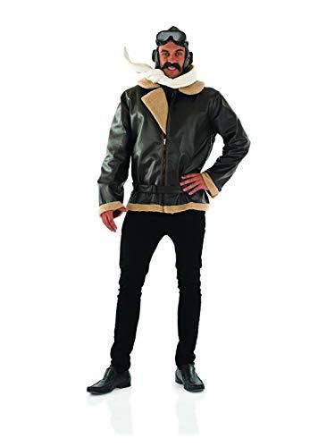 Fun Shack Braunes Pilot Kostüm für Herren, Flieger Anzug, Faschingskostüm - L