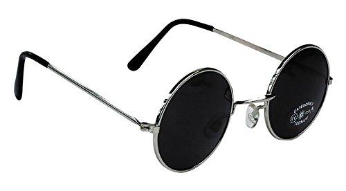 Party Pro 871115 Hippy-Brille, mehrfarbig, Schwarz