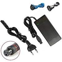 DES- Cargador de batería 42V 2A Compatible con Scooter eléctrico,Cargador de batería Universal Ion de Litio para la Bici eléctrica