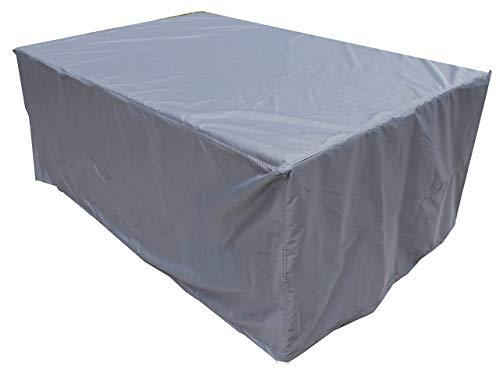 Comprar la Cobertura del Pirata Cobertura de Muebles al Aire Libre Mesa 190x130x90 cm y una Cubierta de Polvo Silla del Patio 600D Negro Impermeable,220 cm x 140 cm x 90 cm,Antracita