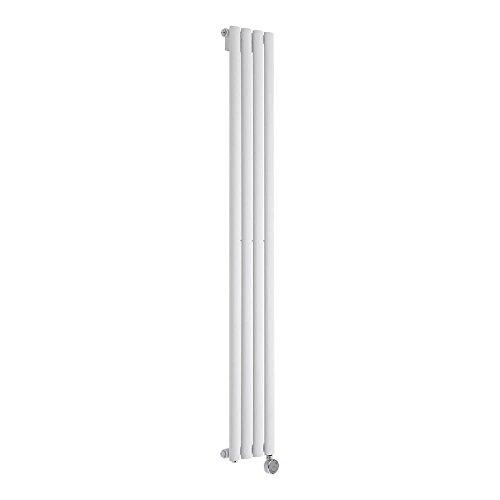 Hudson Reed Vitality Électrique – Radiateur Design Vertical – Blanc – 160 x 23,6cm