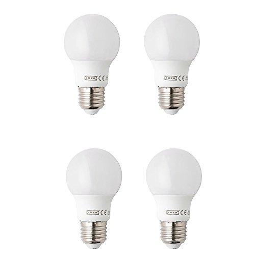 IKEA Ryet 4 PACK LED Lights - SET OF 4 LED Bulb Matt - Instant Activation -...