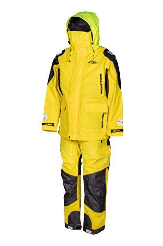 WESTCOAST Offshore Ölzeug Segeln, Segeljacke und Segelhose (Komplett-Set), Damen/Herren (Unisex), gelb, Größe XXL