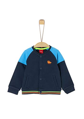 s.Oliver Junior Baby-Jungen Jacke Sweatshirt, 5798 Dark Blue, 62
