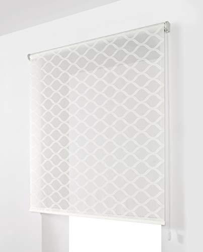 Estoralis Davos Estor Enrollable Visillo Translucido, Blanco, 130 x 250 cm