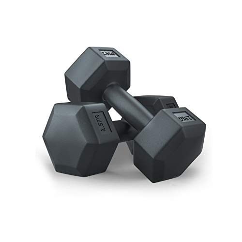 Hex Dumbbell Pairs Exercise Arm Muscle Fitness Dumbbells Rubber Dumbbell for Home Bodybuilding Training Men and Women Work Out