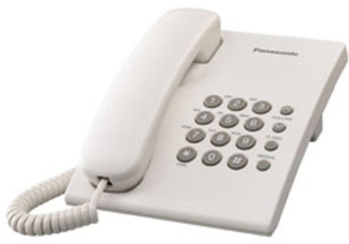 Panasonic Single Line KX-TS500MX Corded Phone (White)