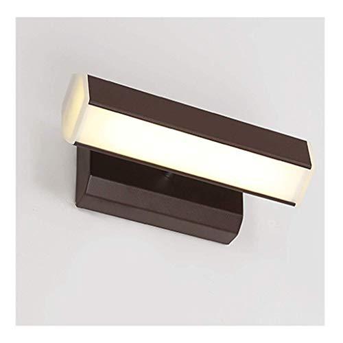 NZDY Luz de pared de luz LED, la cabeza de la lámpara se puede girar 360 grados Dormitorio Sala de estudio Sala de estar Restaurante Aplique de pared Hardware nórdico [Clase energética A +] Nivel de