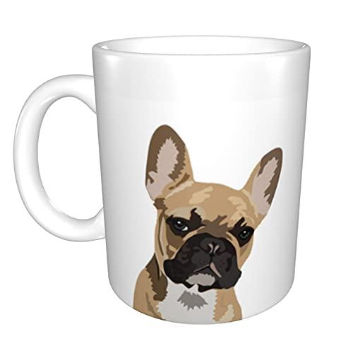 Coffee Mug Novelty Graduation Gifts Cute French Bulldog Funny Ceramic Mugs 11 Oz White Tea Cup Bonus Gift For Teacher and Friends